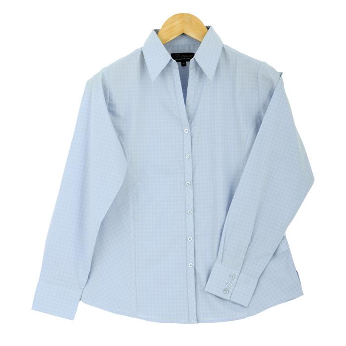 Ladies Pioneer Check Blouse Long Sleeve (LL-PI