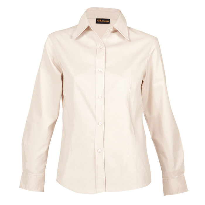 Ladies Brushed Cotton Twill Blouse Short Sleeve (ll-twill)