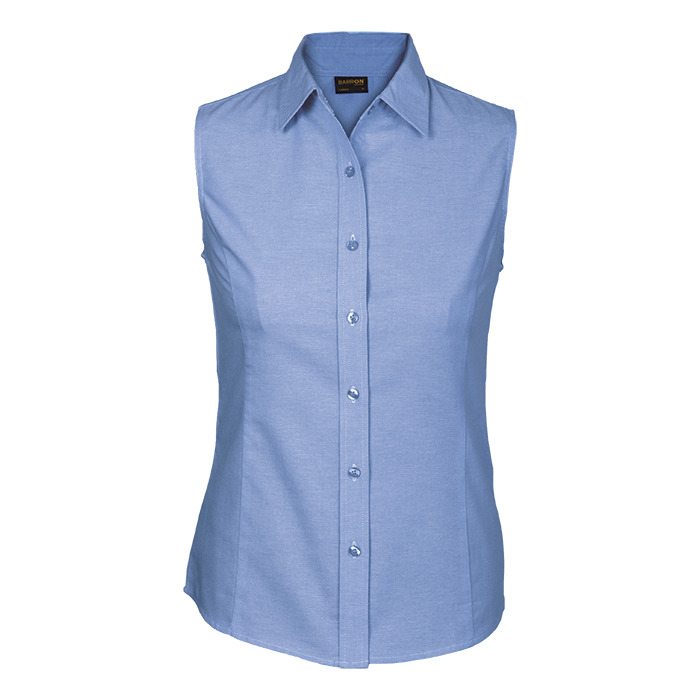 Ladies Oxford Blouse Sleeveless (lls-ox)