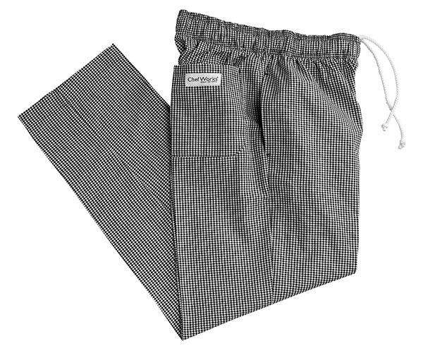 Small Black And White Check Baggy