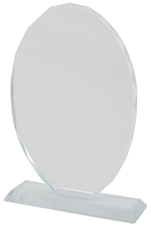 Crystal Trophy - Oval